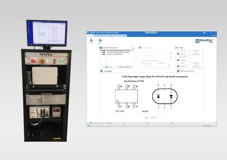 MICROPORT CRM - Banc de contrôle d'entrée de diodes et thyristors pour défibrillateurs