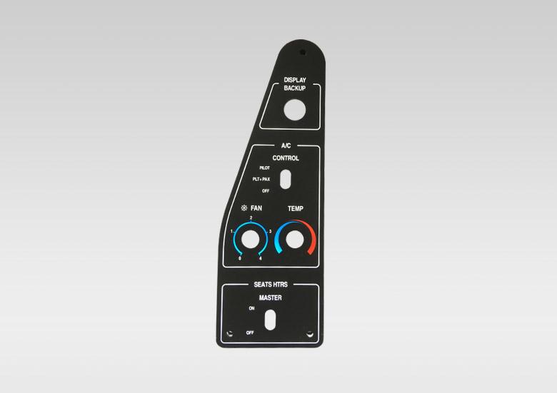 DAHER - Platine rétro-éclairée cockpit de commande de chauffage et climatisation